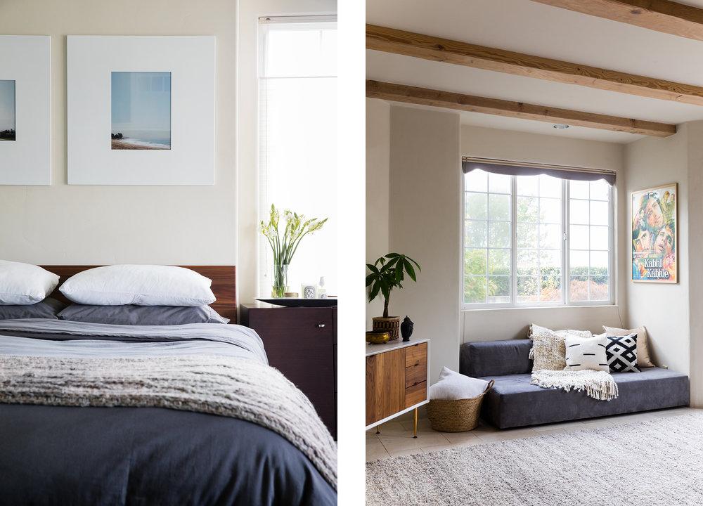 Lauren Nelson Design // Oakland Home // Bedroom & Living Room