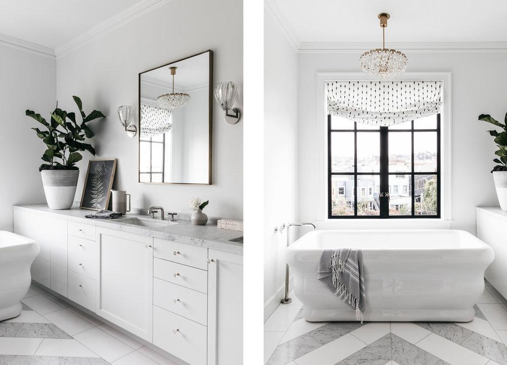 Lauren Nelson Design // Marina Home // Master Bathroom