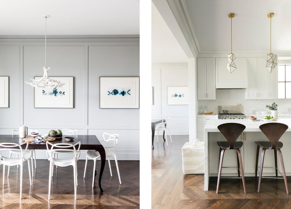 Lauren Nelson Design // Marina Home // Breakfast Nook & Kitchen
