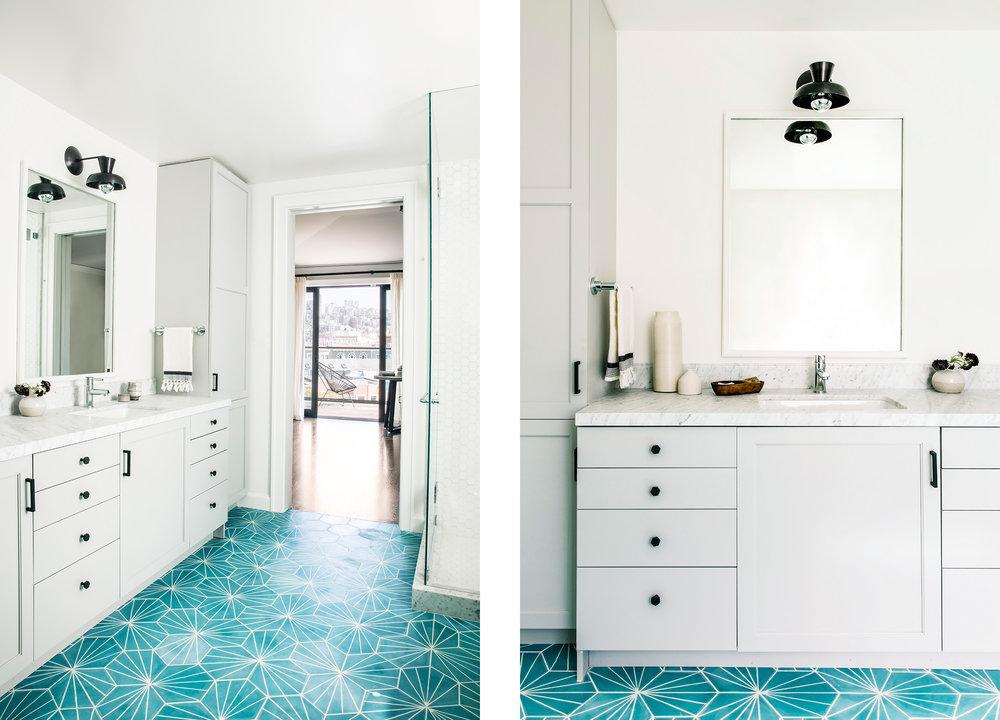 Lauren Nelson Design // Marina Home // Guest Bathroom