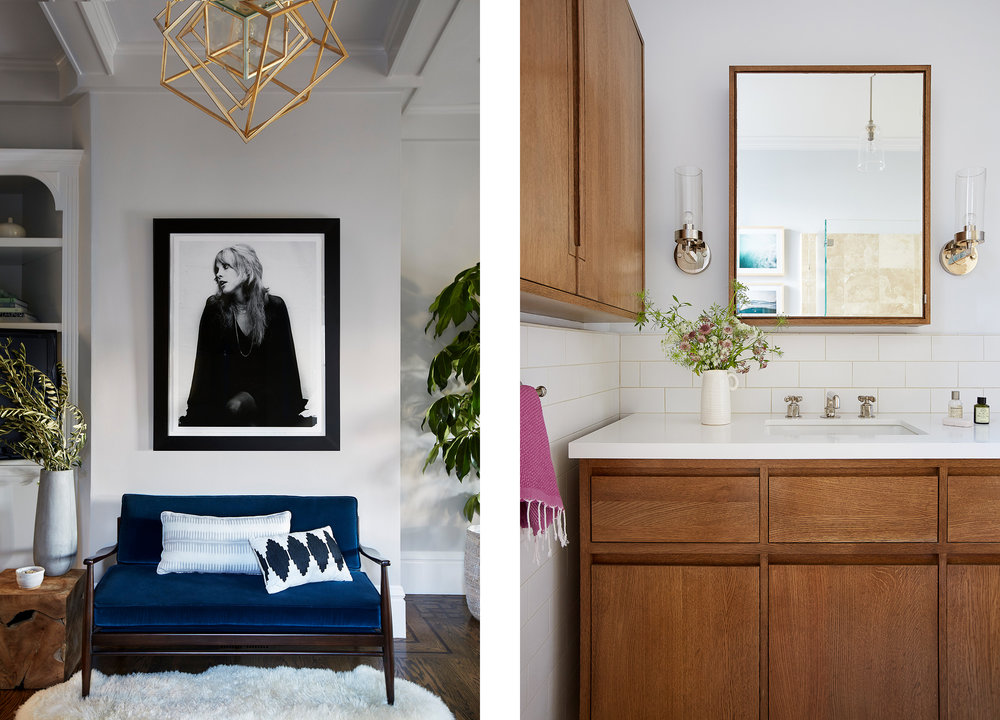 Lauren Nelson Design // California Street Home // Parlor & Bathroom