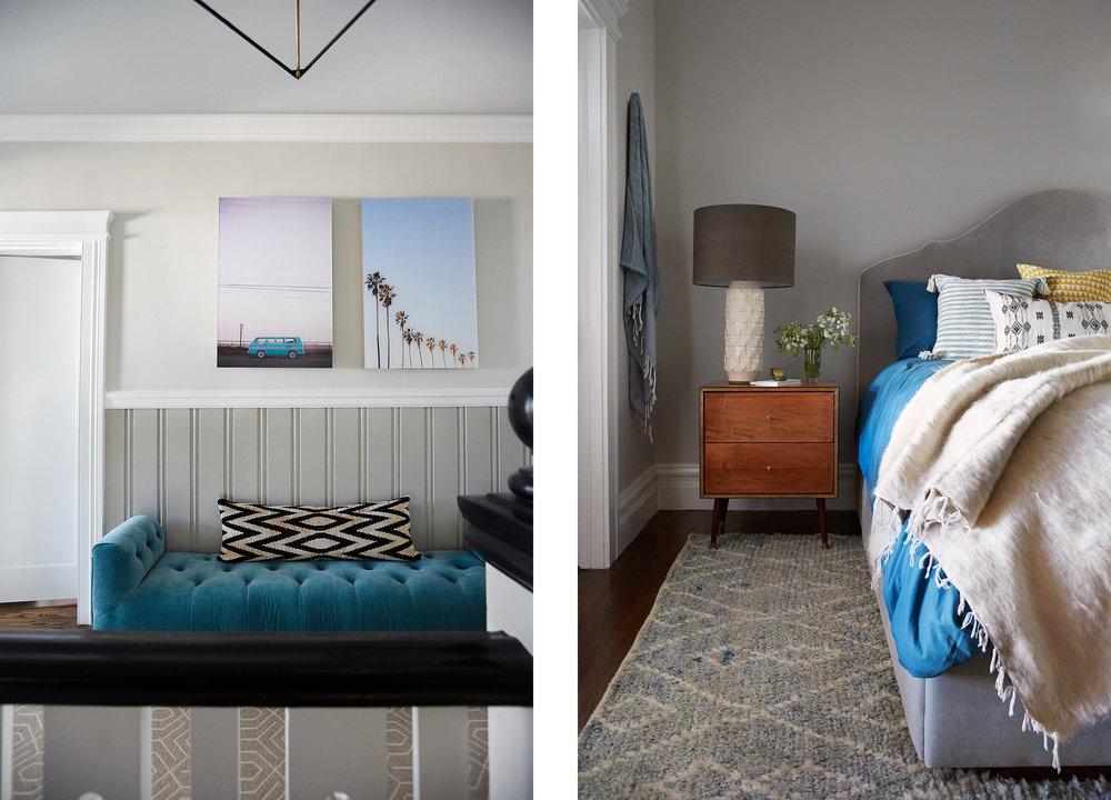 Lauren Nelson Design // California Street Home // Entry & Master Bedroom