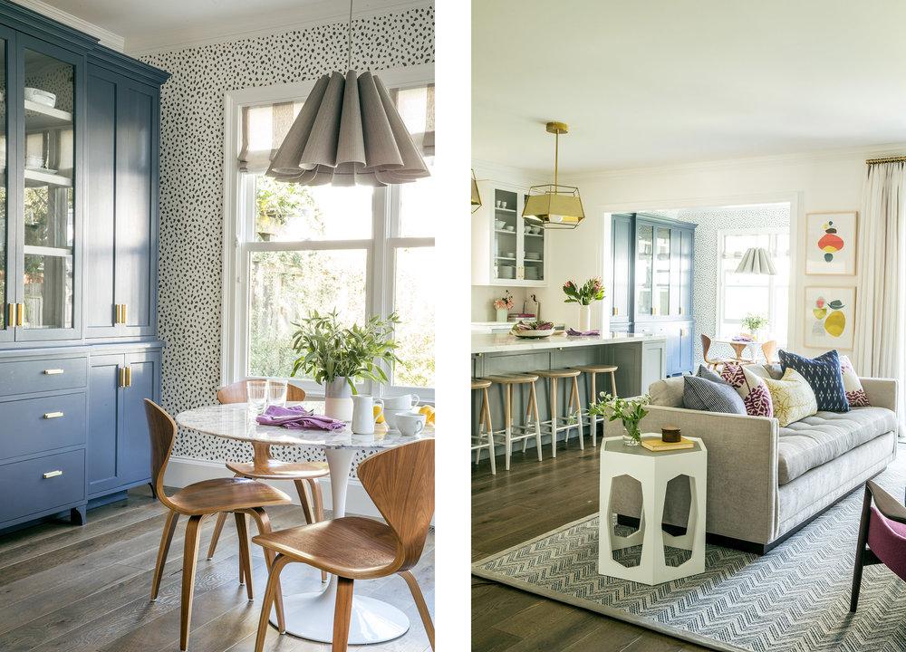 Lauren Nelson Design // San Francisco Home // Breakfast Nook & Kitchen