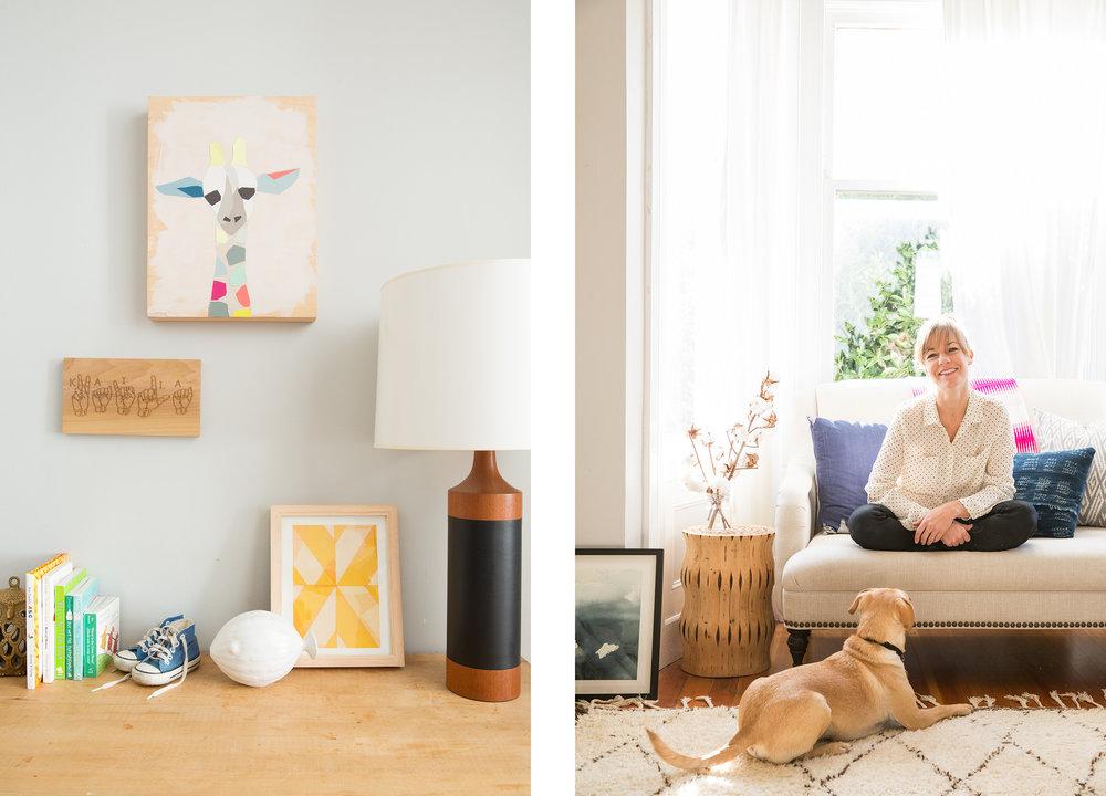 Lauren Nelson Design // Mission Flat // Nursery & Living Room