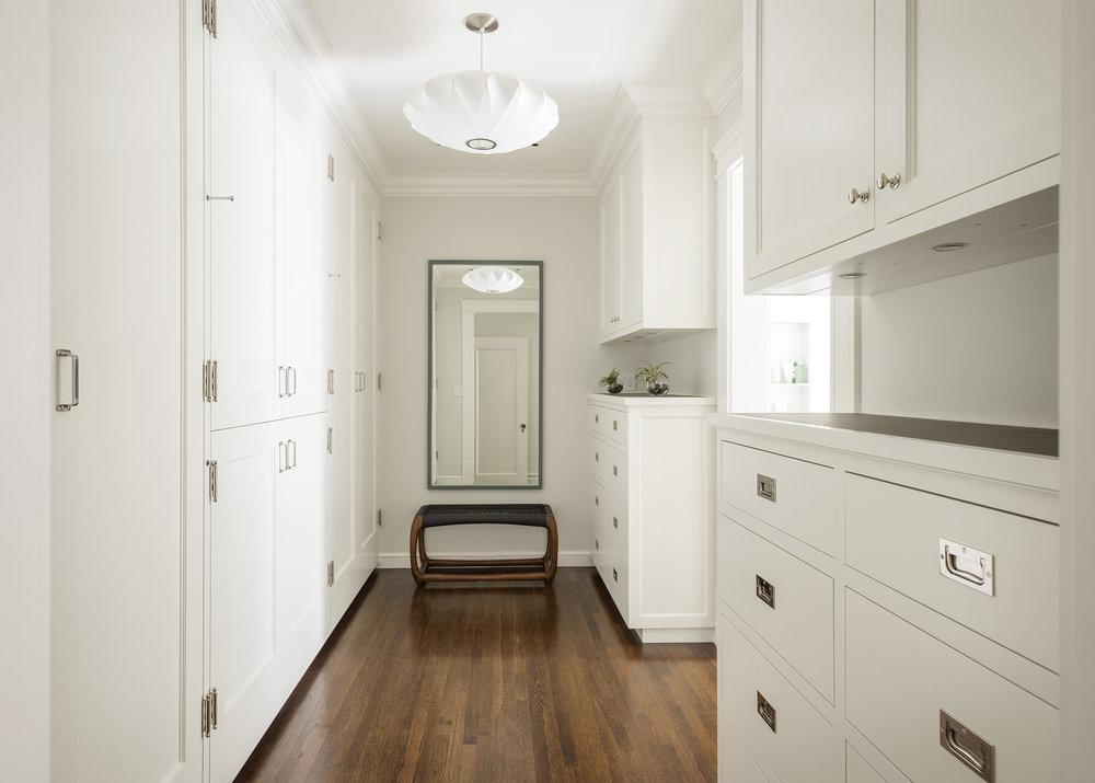 Lauren Nelson Design // Presidio Heights Home // Master Closet