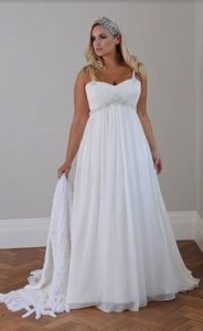 The A-Line wedding dress style is one of the best for all body types.