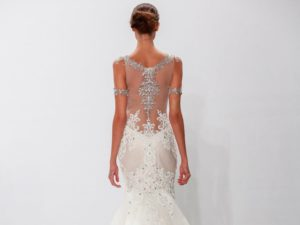 An illusion laced back can make a wedding gown look stunning from every angle.