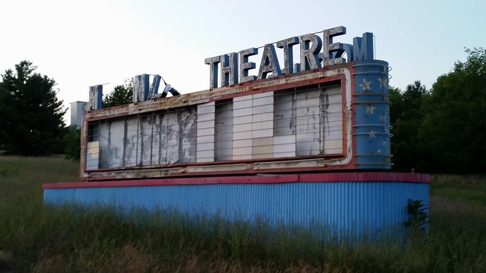 The marquee of the Moonlite Theatre in Abingdon, VA. Circa mid-2015
