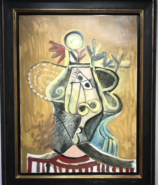 Pablo Picasso's  Tete de Femme  sold for an impressive $17 million at Art Basel Miami Beach.
