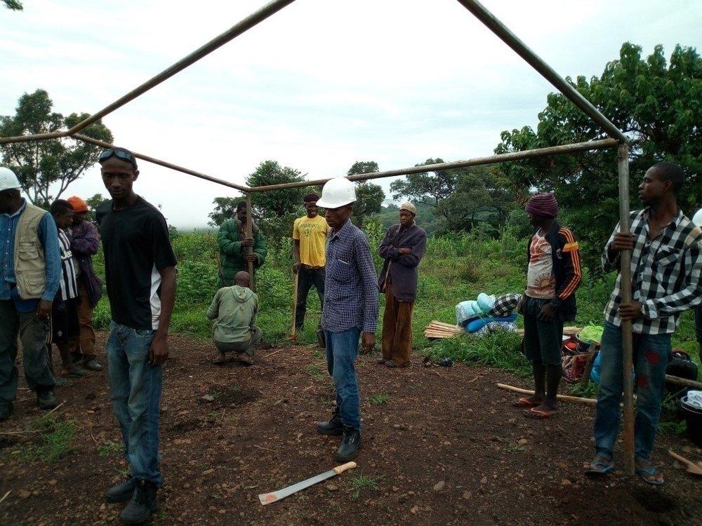 Preparing a dig site