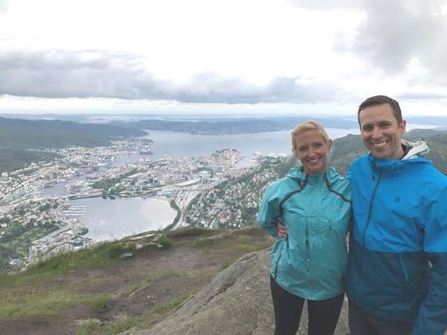 On top of Ulriken Mountain in Bergen, Norway -