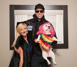 We love Halloween, particularly the dog -