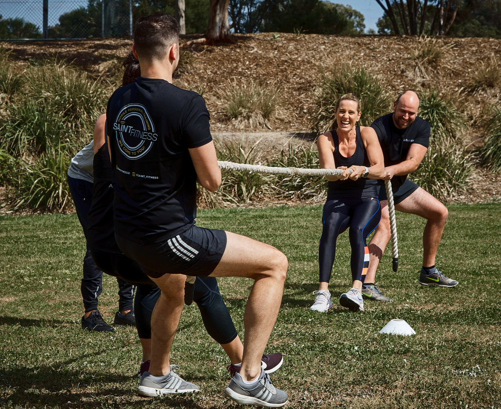Group fitness classes personal training at Saint Fitness Melbourne mobile personal training