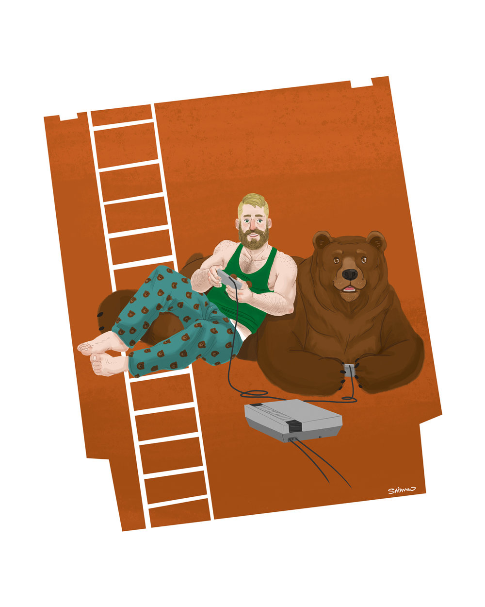 Gamers and bears