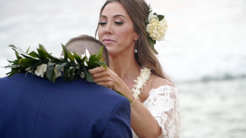 Hawaii lei exchange // wedding traditions