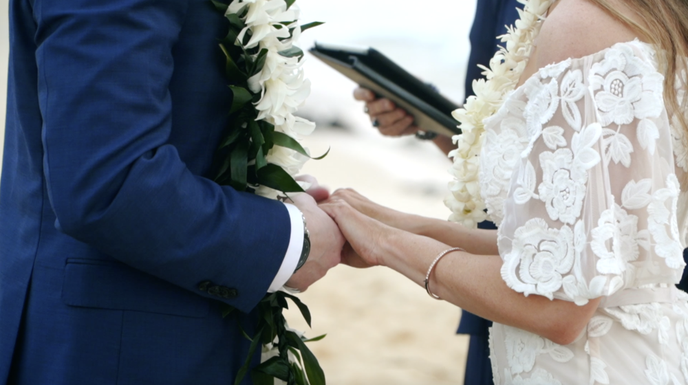 Hawaiian wedding ceremony // Shipwreck Beach Kauai