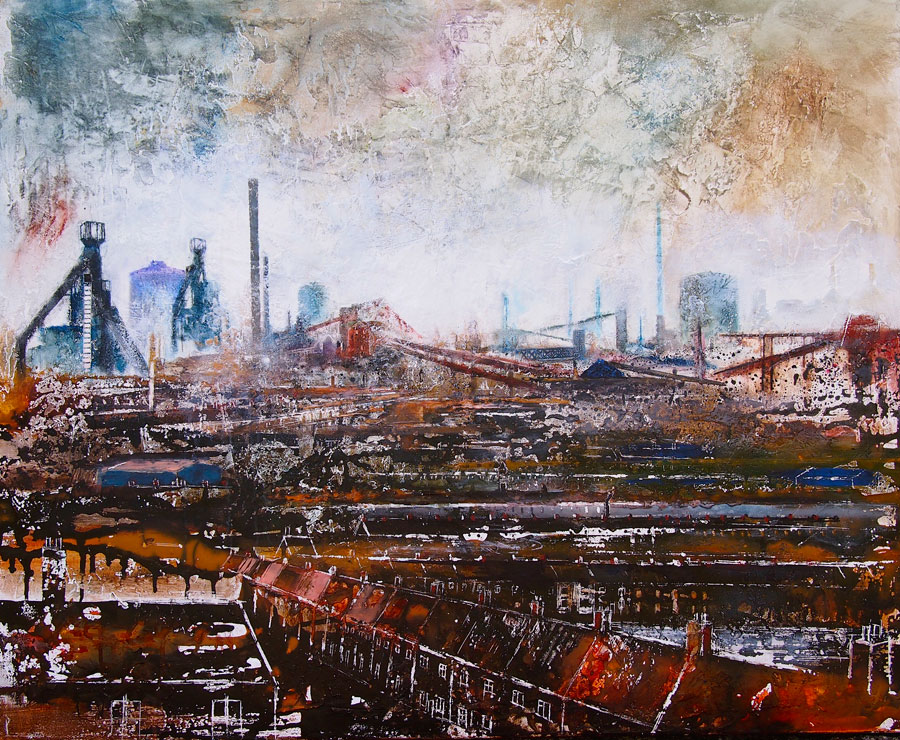 View Across Port Talbot 110 x 90 cm