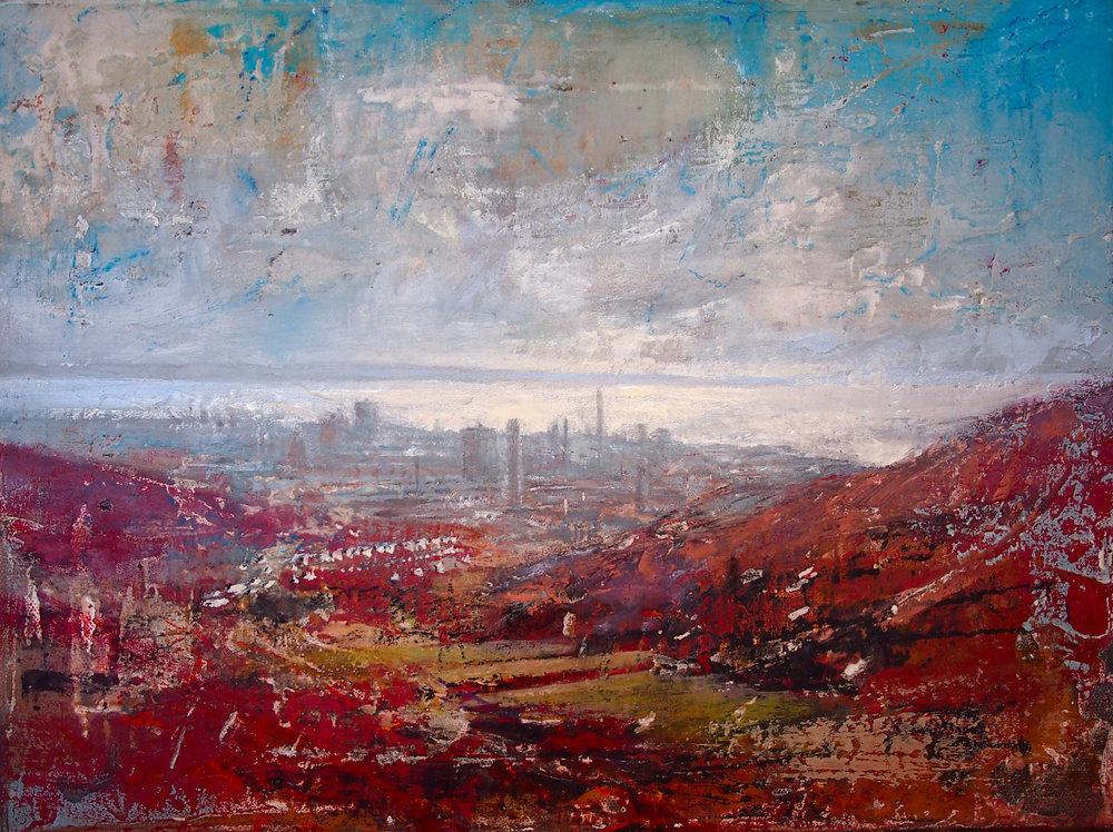 Hot Day Port Talbot 40 x 30 cm