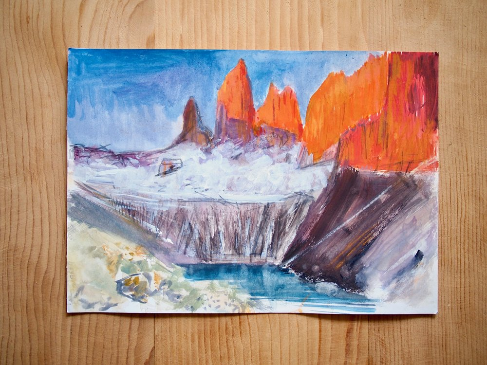 Sketch of the Sunrise at Torres Del Paine