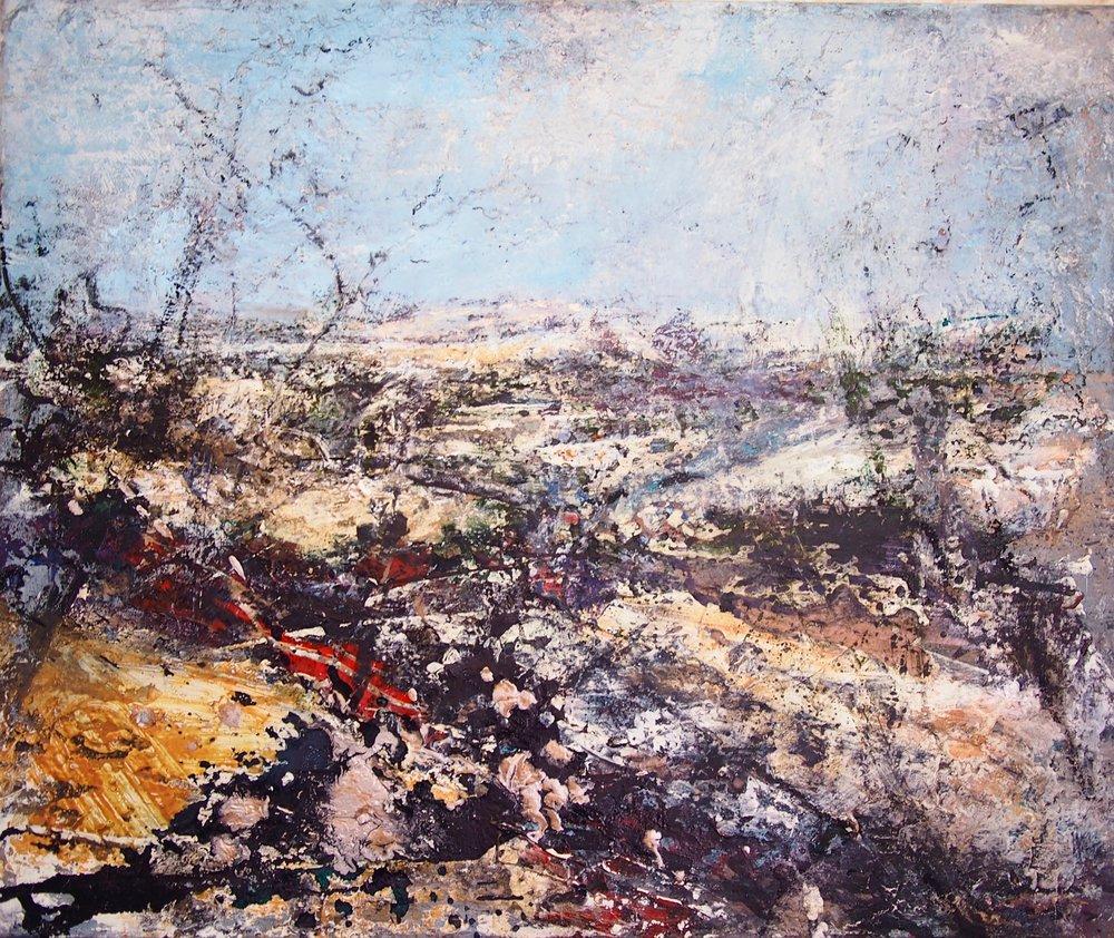 Moorland, Rolling Fields, Brecon 50 x 60 cm