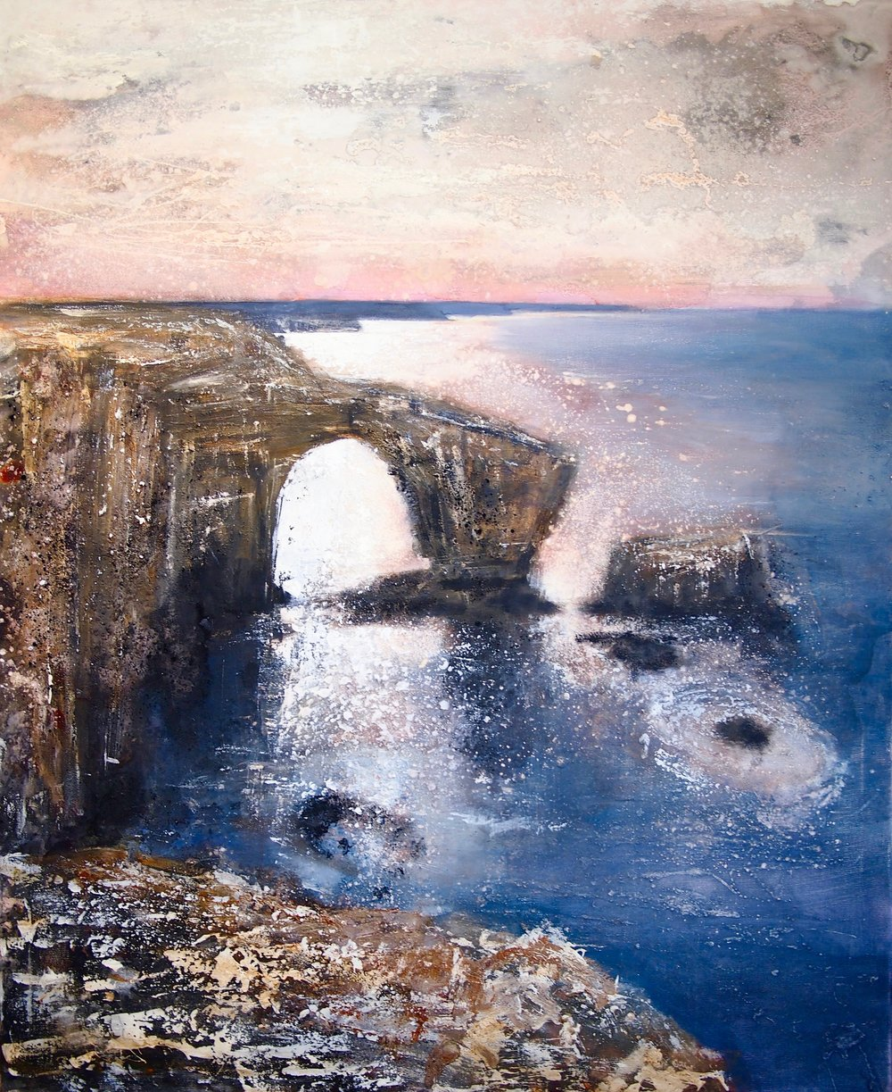 Green Bridge - Pembrokeshire 100 x 120 cm