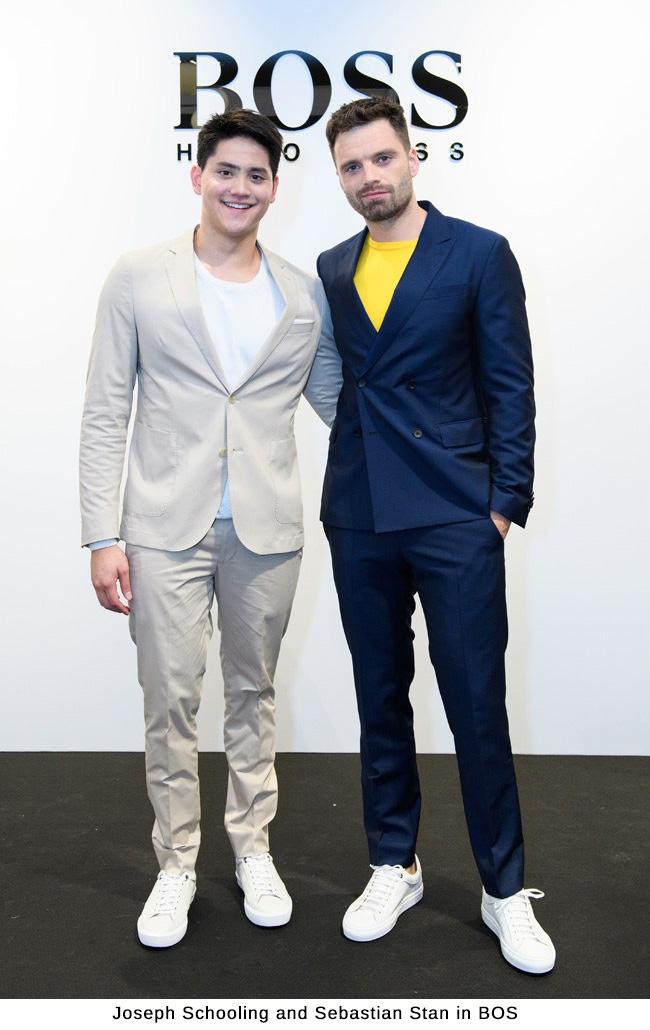 Joseph Schooling and Sebastian Stan in BOSS