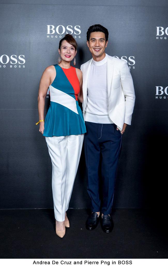 Andrea De Cruz and Pierre Png in BOSS