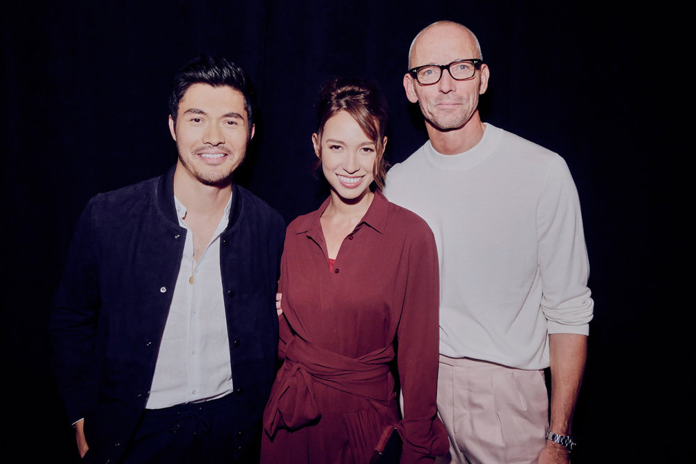 Henry Golding, Liv Lo, and Ingo WIlts