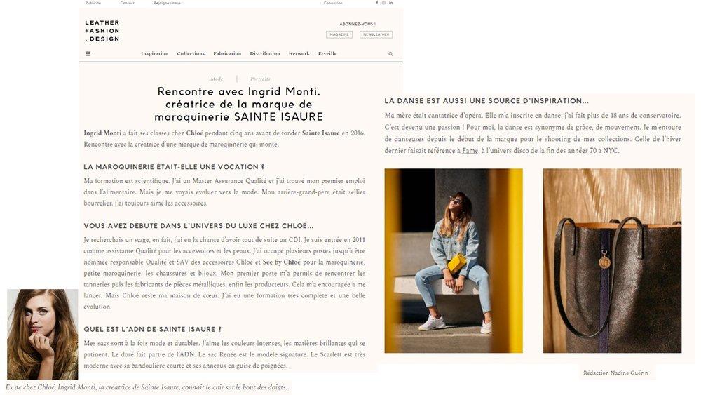Février 2019 : Leather Fashion Design - Rencontre avec la créatrice