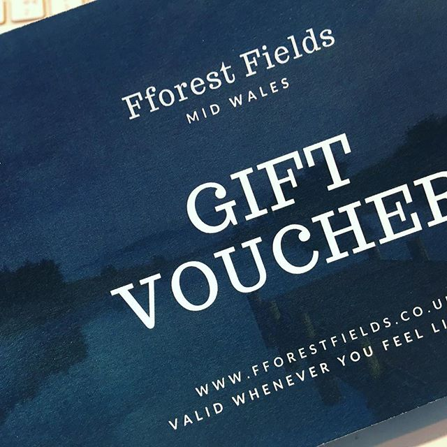 Another gift voucher ready to post! Don't forget Fforest Fields gift vouchers make ffab presents; £25, £50, £75 to £100 or any special amount you'd like! They can be redeemed against a stay on the Campsite, the yurts or Ffynnonau Cottage. If you've run out of ideas post Christmas how about one of these?  #birthdaypresent #voucher #glamping #camping #holidaycottage #somethingspecial #somethingdifferent #fortheoneyoulove #fforestfields #wakeuptomidwales #thisisradnorshire