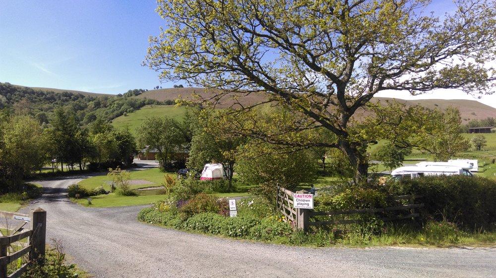 The campsite entrance