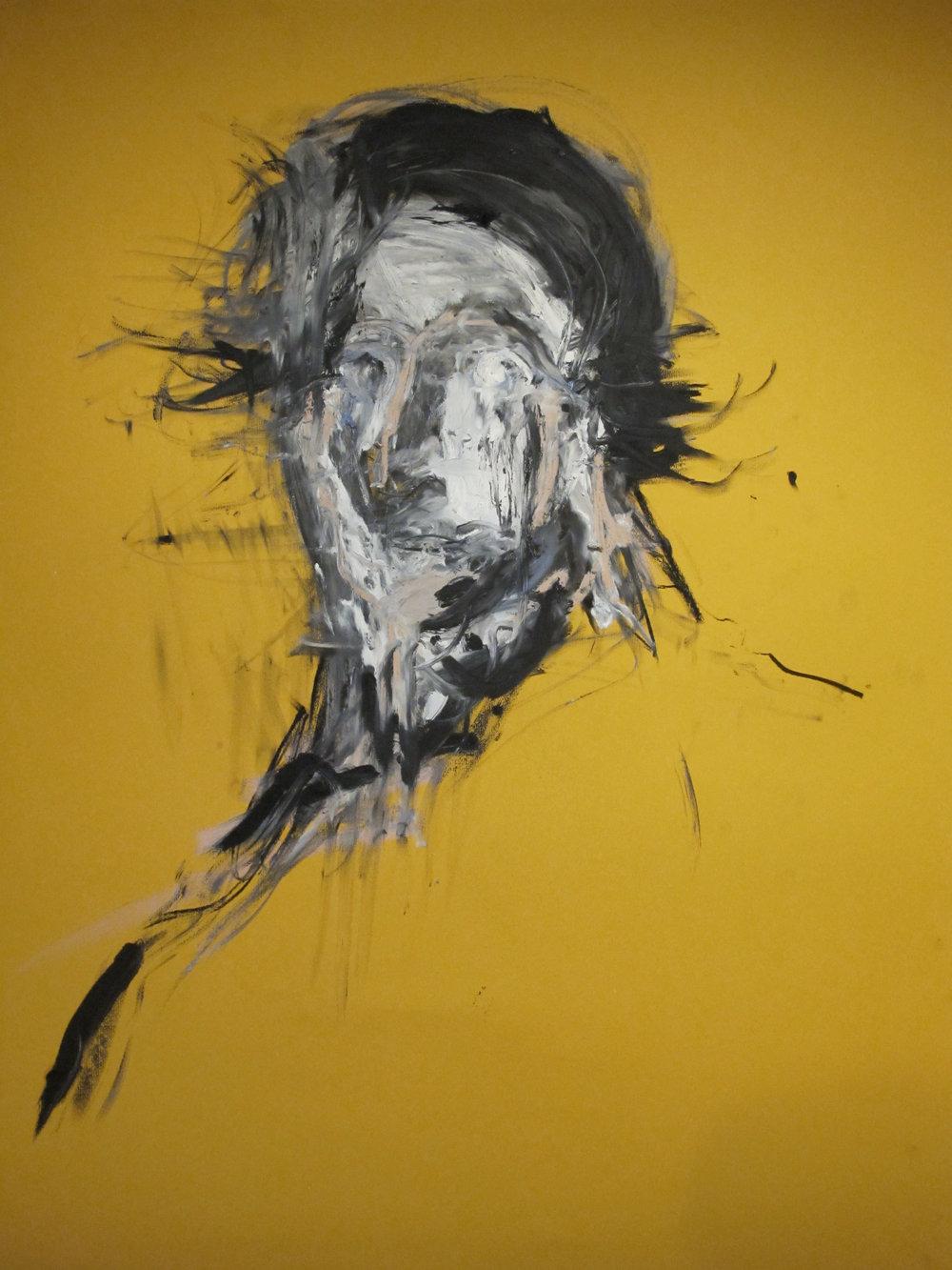 Charcoal_Oilbar_Yellow paper_70cm x 100cm