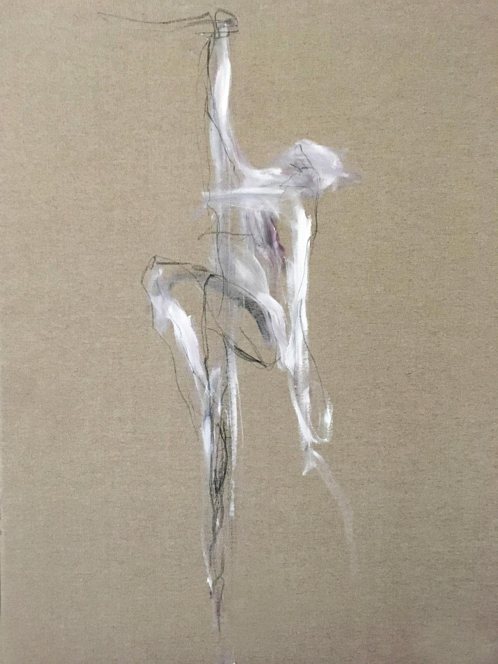Charcoal_Oilbar_Unprimed canvas_40cm x 60cm