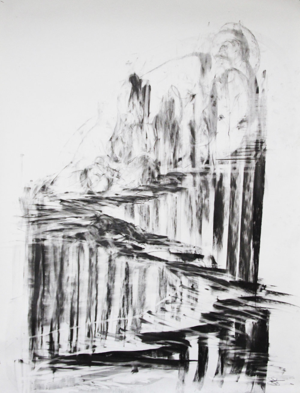 Charcoal_Fabriano paper_90cm x 90cm