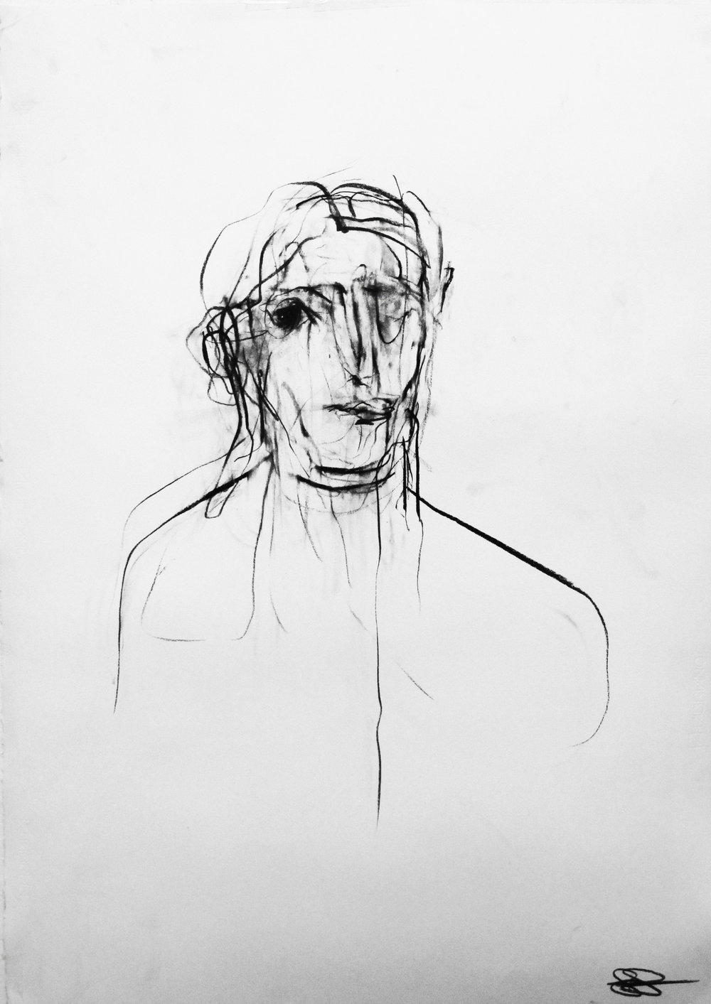Charcoal_Fabriano paper_70cm x 100cm