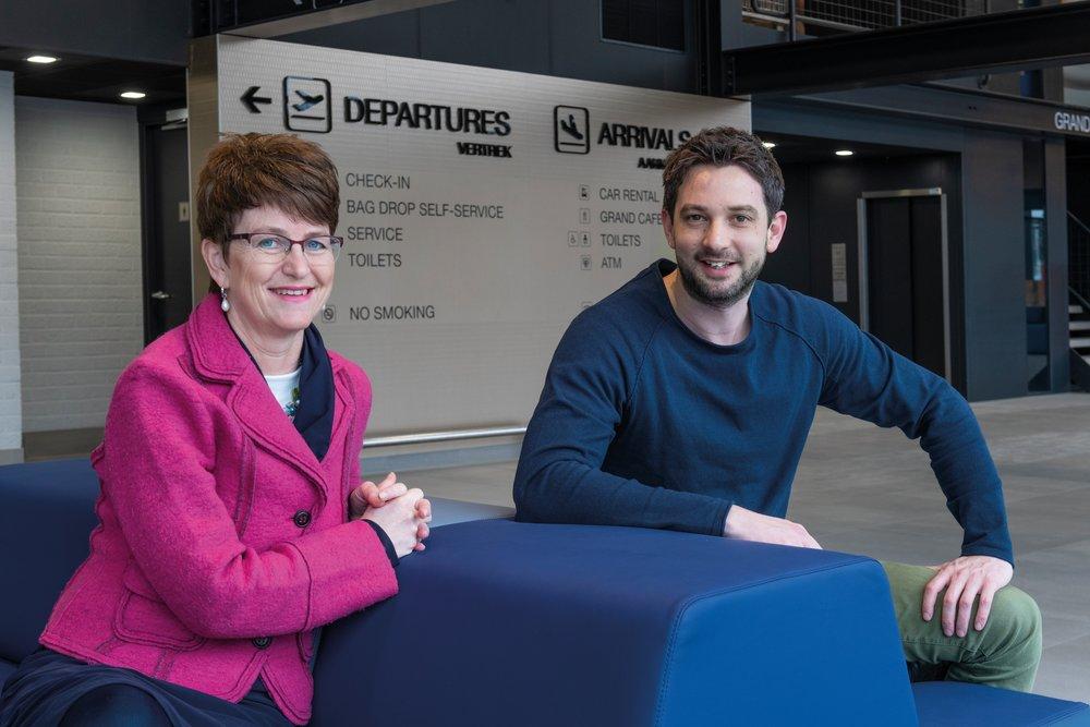 Arlette Daemen (ADDIC en Andi Smart Print Solutions) en Martijn Meij (benVitaal)