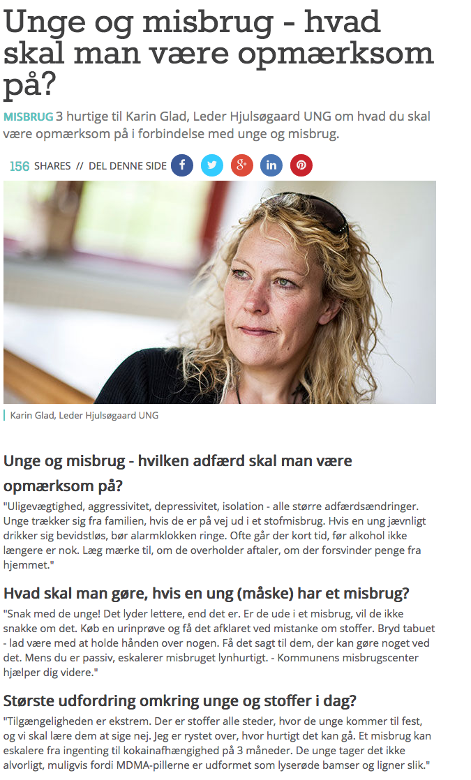 Advertorial til dagbladsindstik