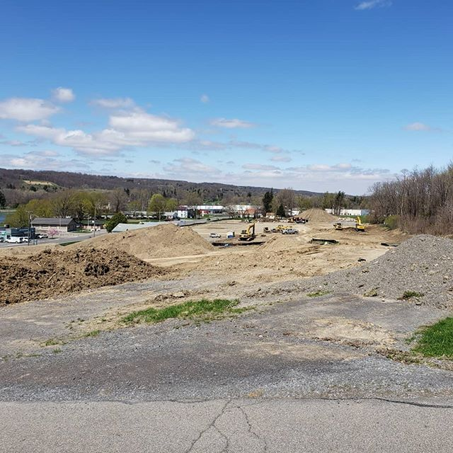 Keuka Shores continuing site work on their townhouse development across from Red Jacket Park!