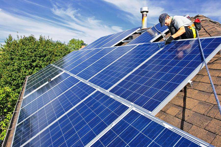 Solar project underway.