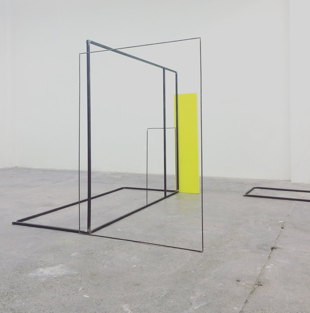 Rosalind Davis. Shapeshifters 1. Canvas and Steel.  190 x150x80cm.2016. Dimensions Variable.jpg