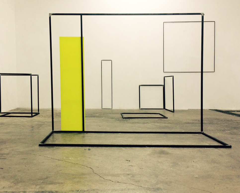 Rosalind Davis. Shapeshifters 7. Canvas and Steel. Dimensions Variable. 2016.jpg