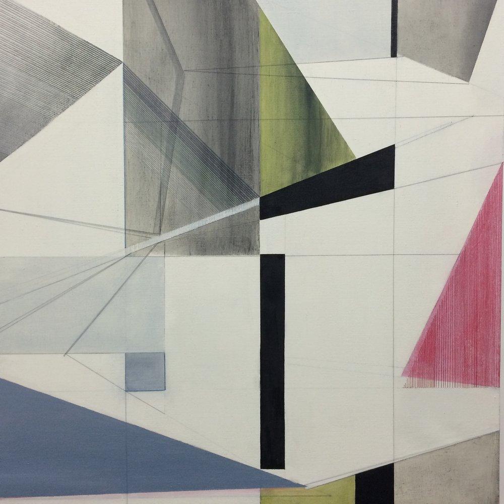 Rosalind Davis. Third Space. Oil & thread on linen. 2015.jpg