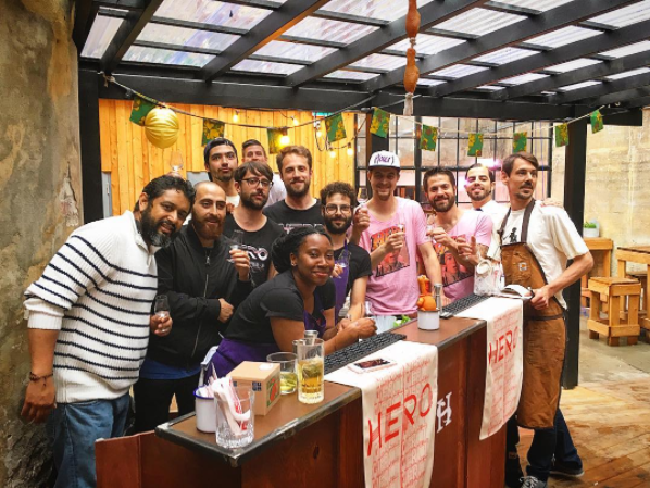 """Pop-up Hero in Oslo – Himkok - 2016 After being crowned """"Meilleur Frit Style 2016"""" by Le Fooding, Hero responded to Himkok's invitation for a pop-up bar in Oslo. A huge success with customized cocktails, incredible food and satisfied guests !"""