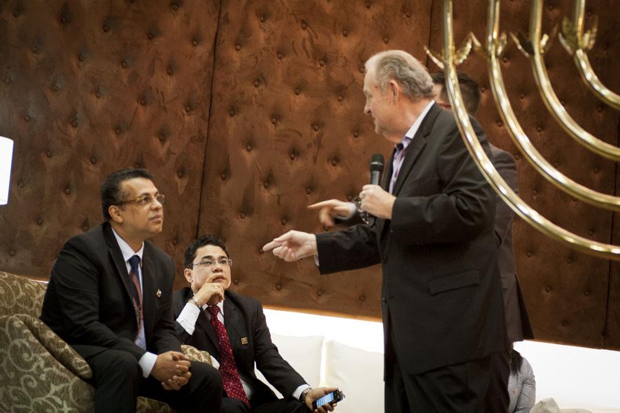 Giving an exhortation to a spiritual Apostle Rene Terra Nova in Brazil