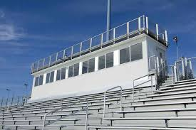 dress your press box up for the game! - Great press boxes come in all shapes and sizes, and all levels of luxury! While our standard features and finishes are great, we know that many schools want the option to customize finishes, equipment, and more, to meet the specific needs of their school or facility, and to reflect their unique spirit! Below are some of the numerous appointments that you have the option to choose, add, and/or customize—and if you want to do something we haven't done before…we're ready to tackle it!