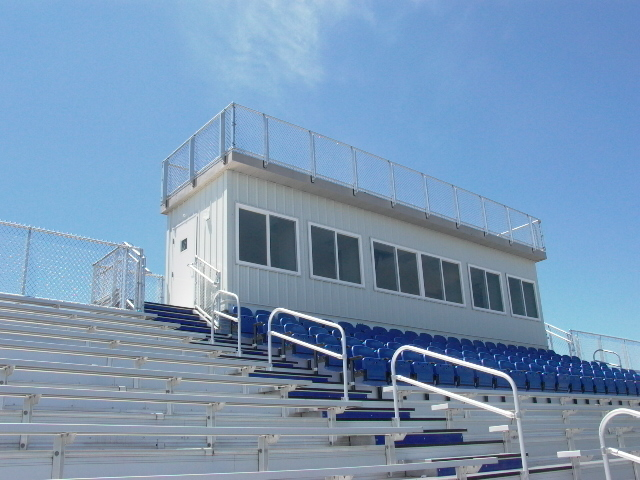 8'W x 36'L Press Box, View 1