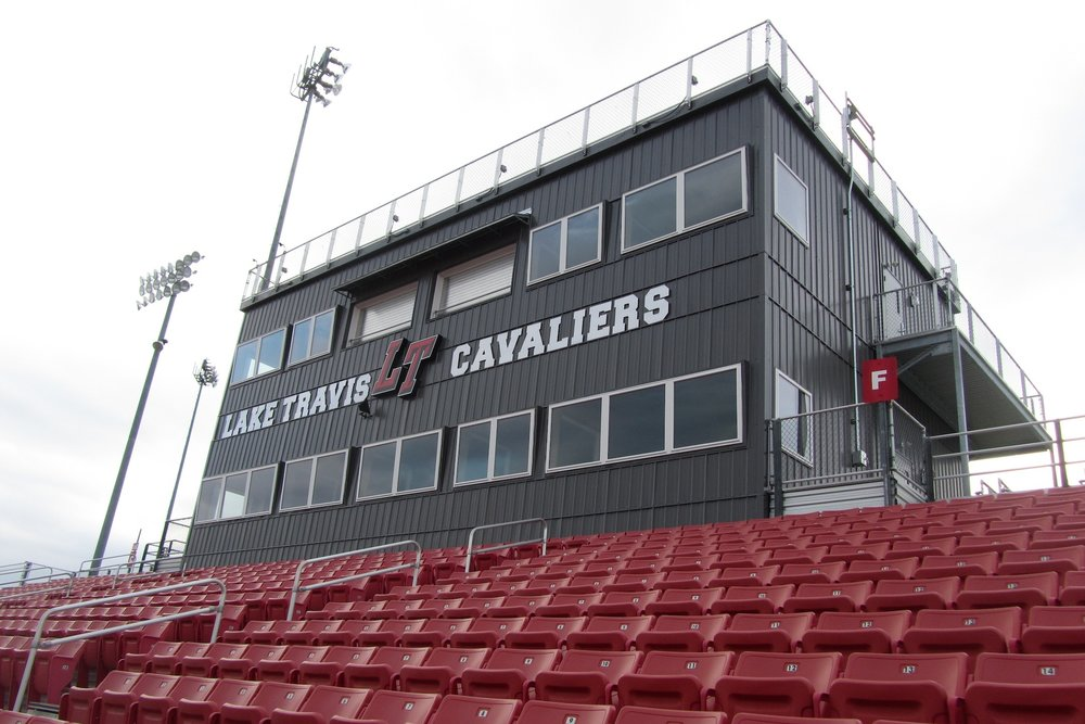 Lake Travis - Lake Travis' expanded multi-level press box was finished 50% faster than traditional construction methods.