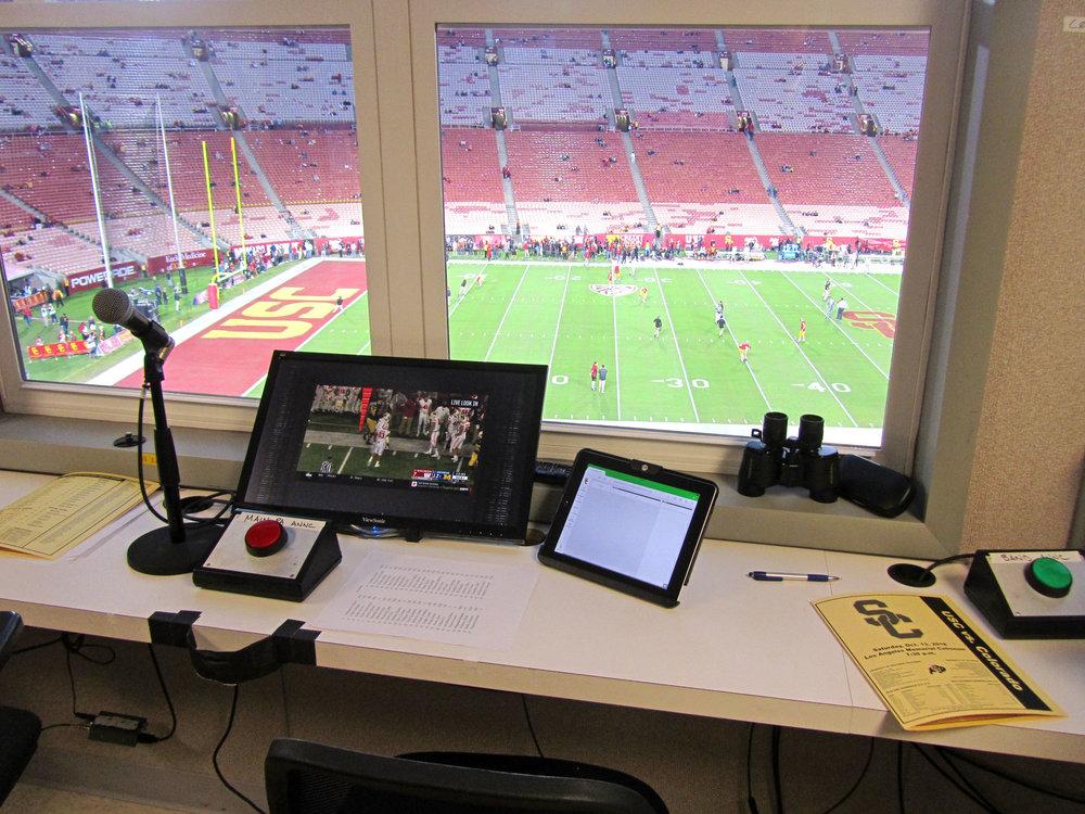 Stadium Announcer Booth