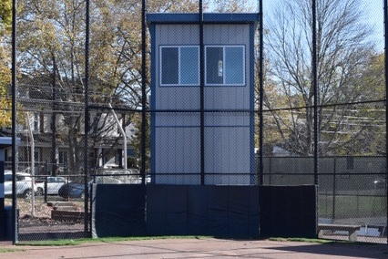 Small 2-Story Ground Game Series™ Press Box for Moravian College