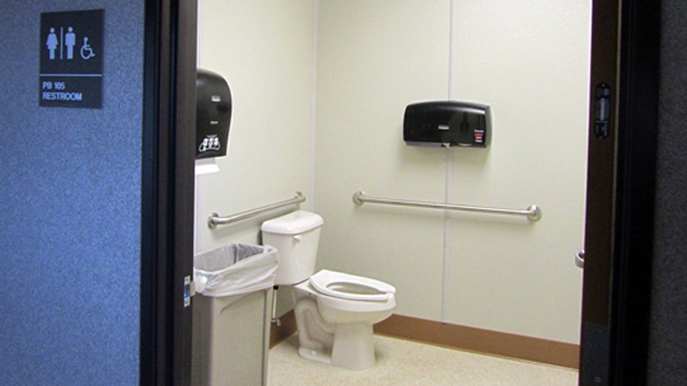 Example of a Restroom Facility Integrated into a Press Box Structure